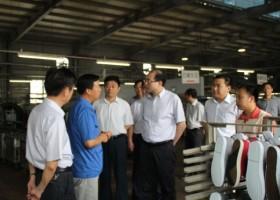 省统计局领导一行莅区参观调研企业发展情况